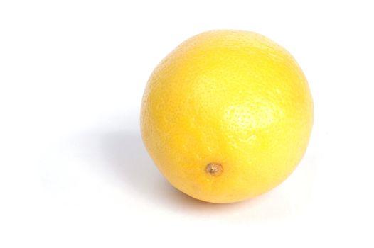 Lemon, white background