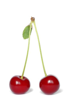 Isolated cherries