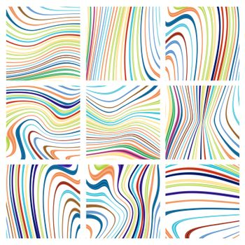 Seamless backgrounds, warped stripes design