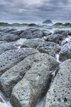 Rock coastline