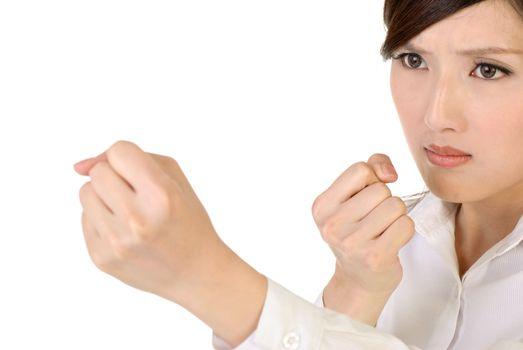Businesswoman fight