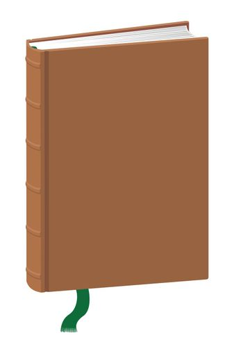 Template of a Standing Hardcover Book