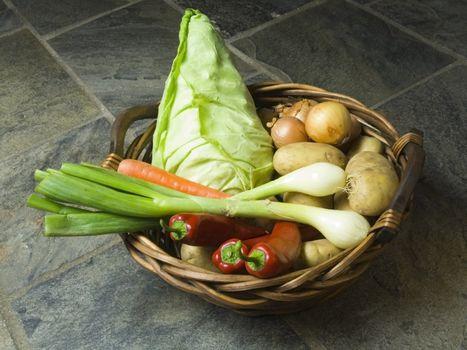 basket full of fresh vegetables