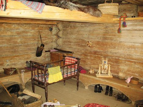 Bedroom in ancient russian county