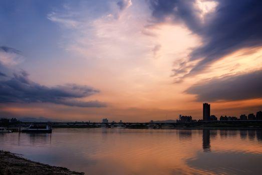 serene cityscape