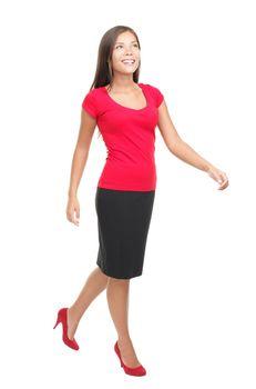 Woman walking isolated