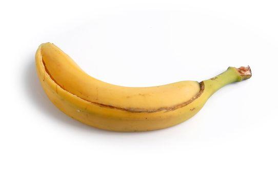 Banana peel with no fruit inside