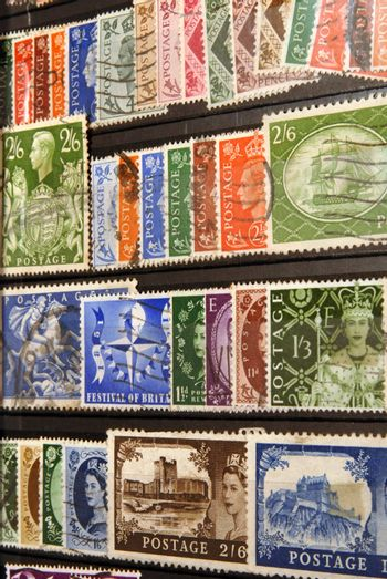 Stamp collection from United Kingdom