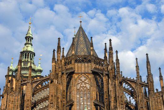 Gothic church towers