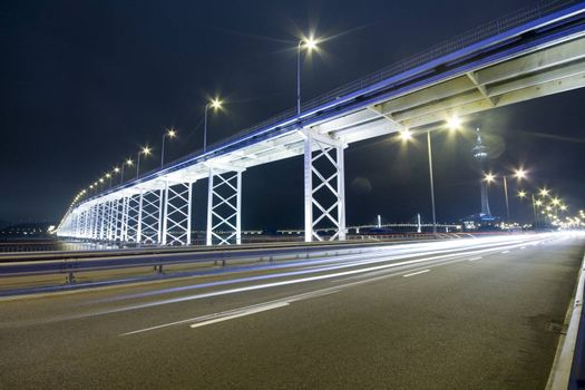 highway under the bridge in macau