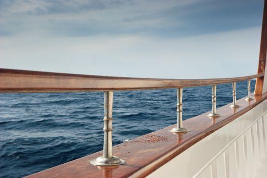 Pleasure boat rail