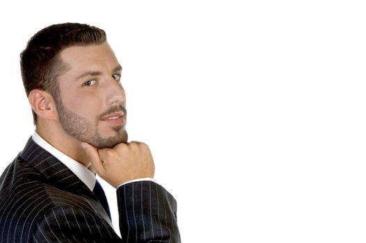 thinking handsome businessperson