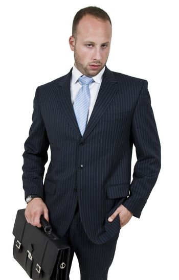 businessperson with bag
