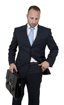 businessperson with briefcase