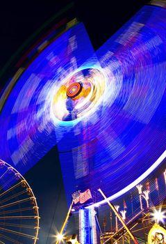 merry-go-round with ferris wheel