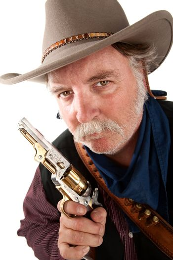 Cowboy with pistol