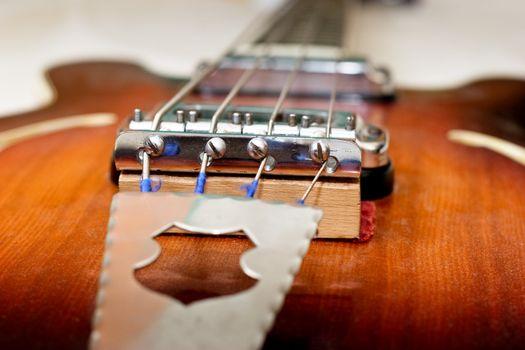 Old bass guitar detail