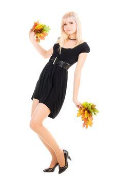 Cheerleader with foliage