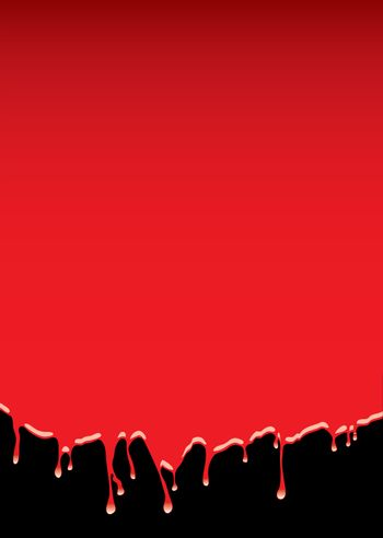 red blood dribble background