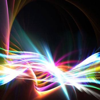 A glowing rainbow colored fractal design that works great as a background or backdrop.
