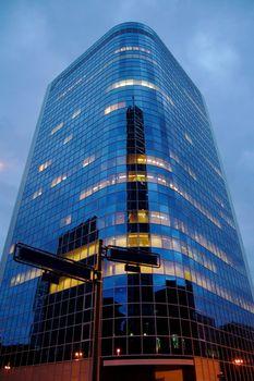 High modern skyscraper