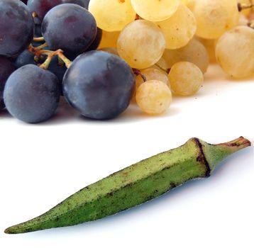 okra and grape