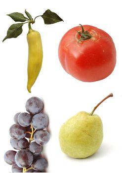 pear.tomato.grape and pepper