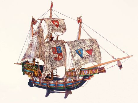 A miniature sail boat from Spain from 1402 what sailed to Amerika.