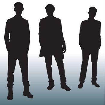 Silhouette fashion men