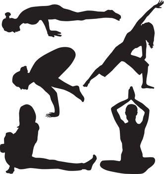 Silhouette of yoga