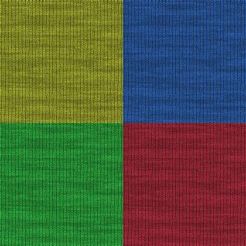 Four colors of a high resolution yarn texture that can be used as a pattern and tiled seamlessly.