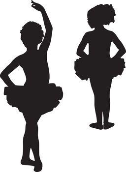 Happy silhouette ballerinas