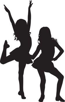 Silhouette enjoy girls
