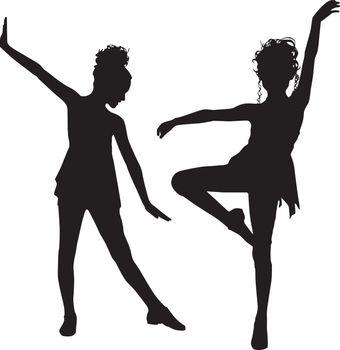 Enjoy dancer silhouette