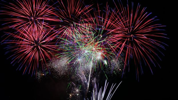 An image of beautiful fireworks celebration