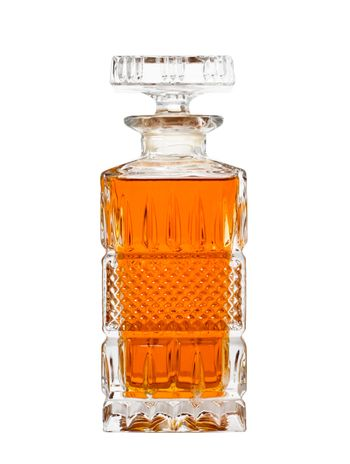 Decanter with whiskey