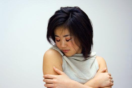 Sensitive Oriental woman
