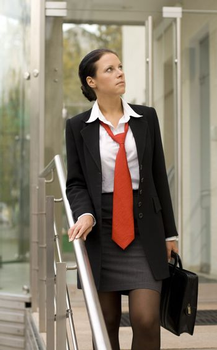 businesswoman with portfolio