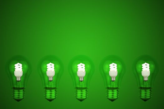 60 watt light bulb with a small Low energy light bulbs in the ce