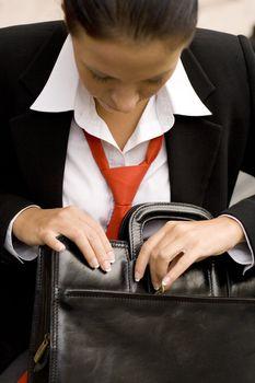 businesswoman with briefcase