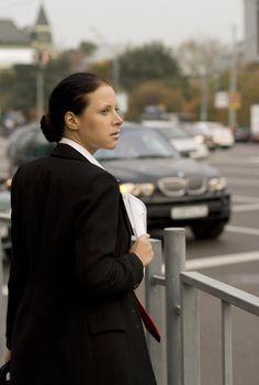 businesswoman in the street