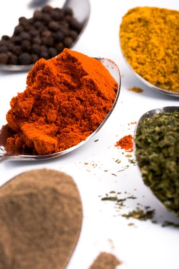 various ground spices