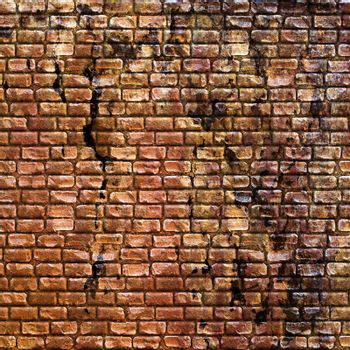 Seamless grungy stone wall texture in a burnt orange tone.
