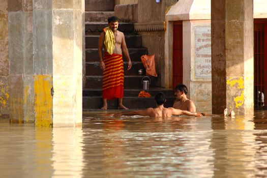 Hindu holy place - River Varanasi - India