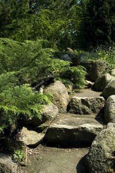 stone stairs. summer scenic