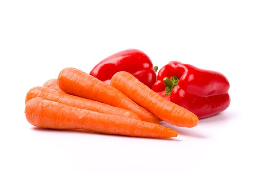 carrots and red paprika