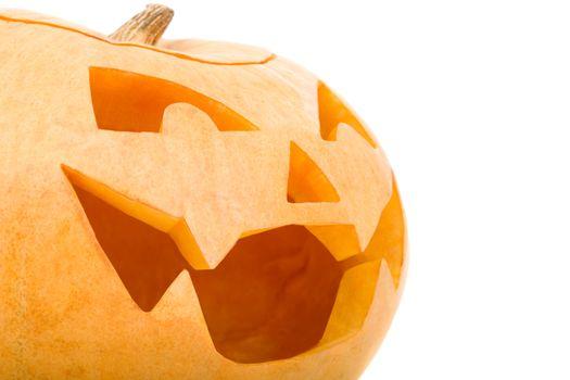 Creepy carved pumpkin face