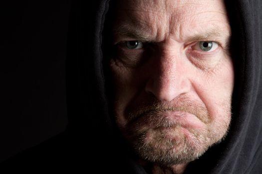Grumpy mad old man