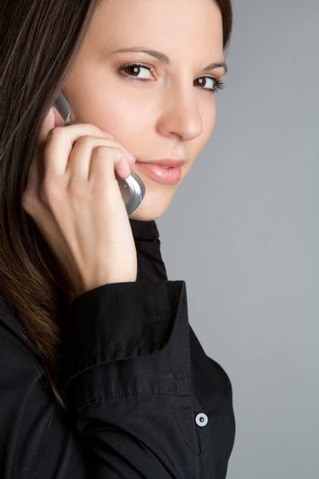 Pretty girl on cell phone