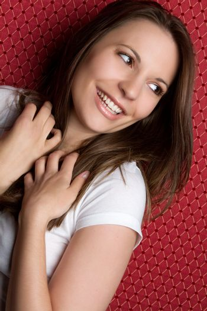 Beautiful smiling laughing girl